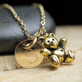 Gold-Filled Teddy Bear Keepsake Necklace