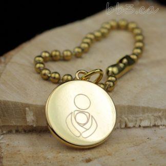 Bulk Discount Gold Babywearing Symbol Keychain Purse Bag Charm