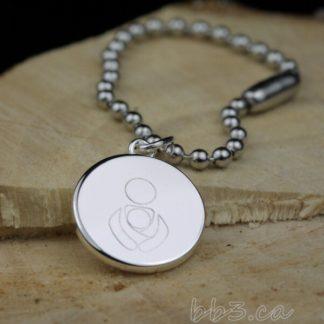 Bulk Discounts Silver Babywearing Symbol Keychains Bag Charms