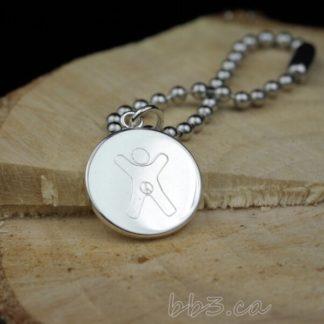 Bulk Discount silver International Child Symbol Keychain Bag Charm