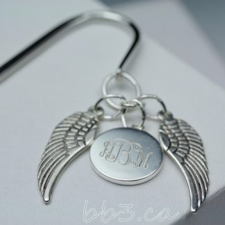 Angel Wings Memorial Bookmark Silver