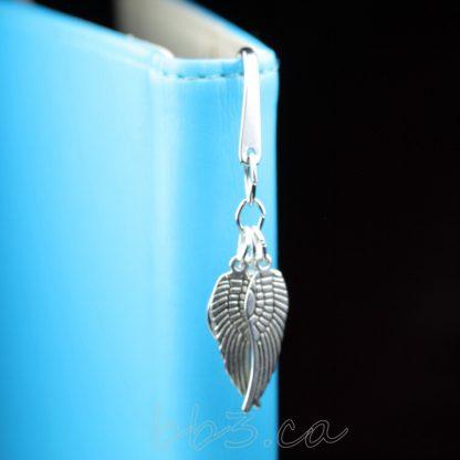 Angel Wings Memorial Bookmark Silver