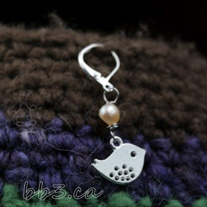silver bird stitch markers