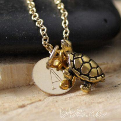 Turtle Keepsake Necklace Gold Filled