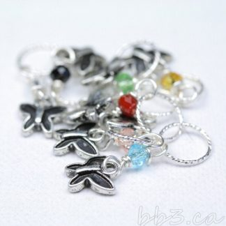 Stitch Markers Knitting Bling: Butterflies Size Small