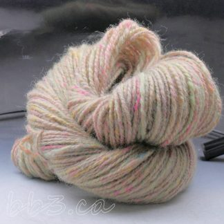 Handspun Yarn: Confetti Beige