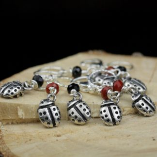 Stitch Markers Knitting Bling: Ladybugs Size Small