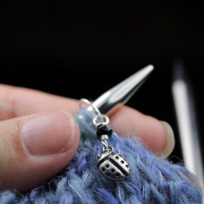 Stitch Markers Knitting Bling: Ladybugs Size Small