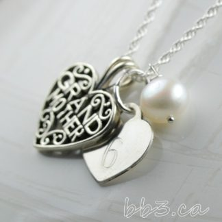Grandmother Keepsake Necklace - Sterling Silver