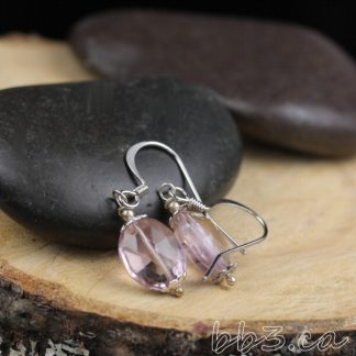 Faceted Ametrine Earrings Gemstone