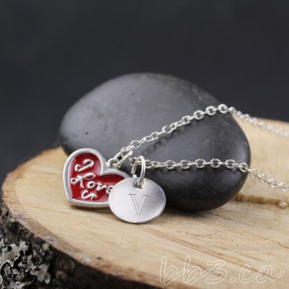 I Love You Sterling Silver Necklace