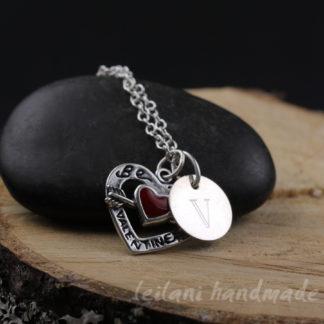 be my valentine charm necklace