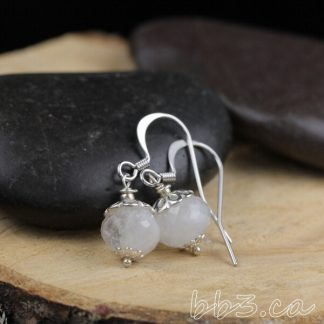 moonstone rondelle earrings