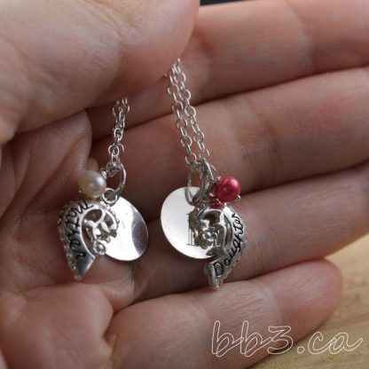 Mother - Daughter Charm Matching Personalized Necklace