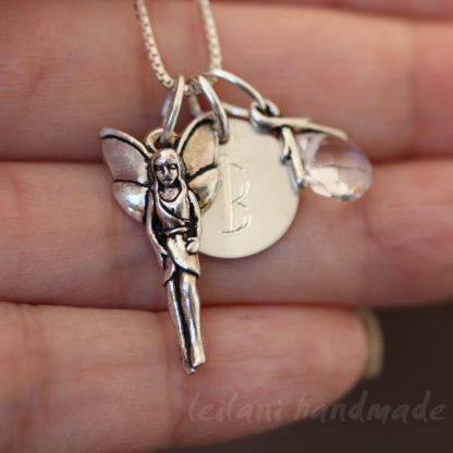 personalized fairy necklace