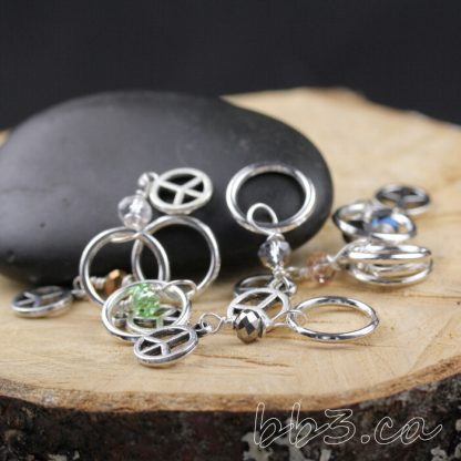 Stitch Markers Knitting Bling: Peace