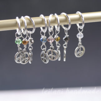 peace sign stitch markers