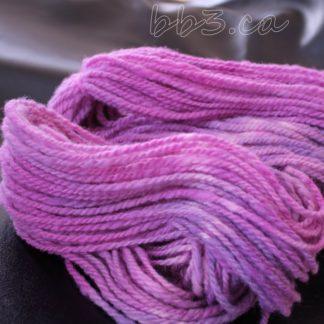 Handspun Yarn: Corriedale Hues of Purple