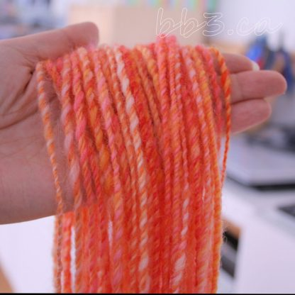 Handspun Yarn: Orange Creamsicle