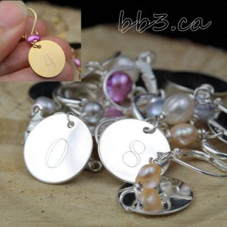 Stitch Markers: Set of 8 engraved 0 to 9
