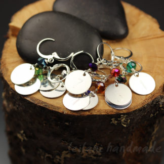 set of 10 engraved with number 0 to 9 stitch marker set