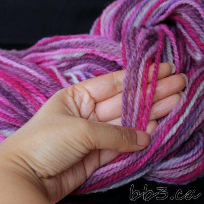 Handspun Yarn - Grape Lollipop