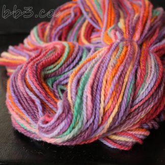 Handspun Yarn - Rainbow Sherbet