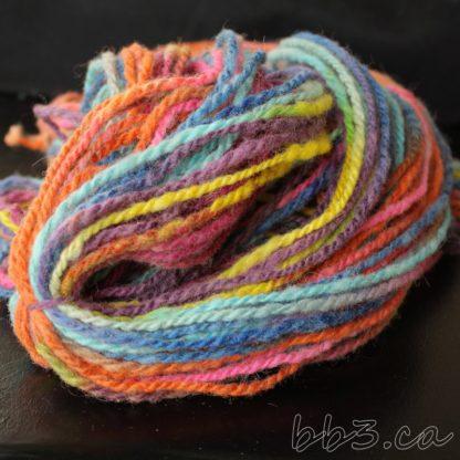 Handspun Yarn - Sunshine and Lollipops
