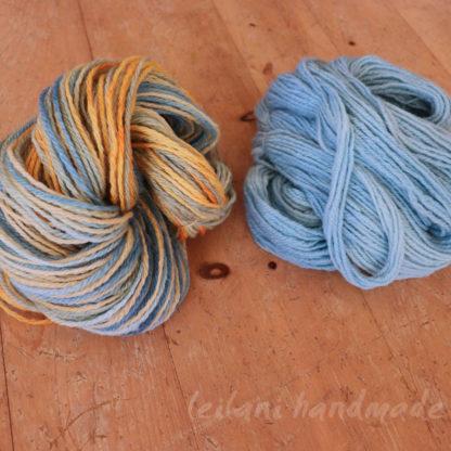 2 skein 3ply bfl handspun yarn set