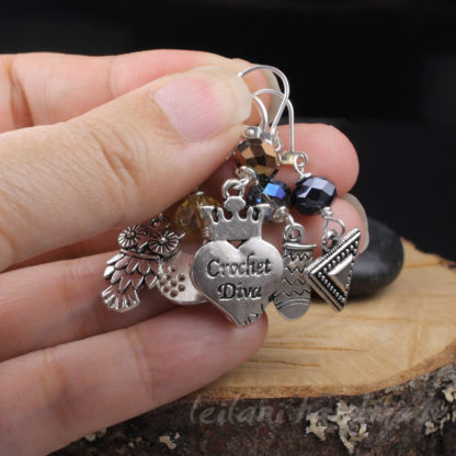 crochet clip to stitch marker set for crocheters