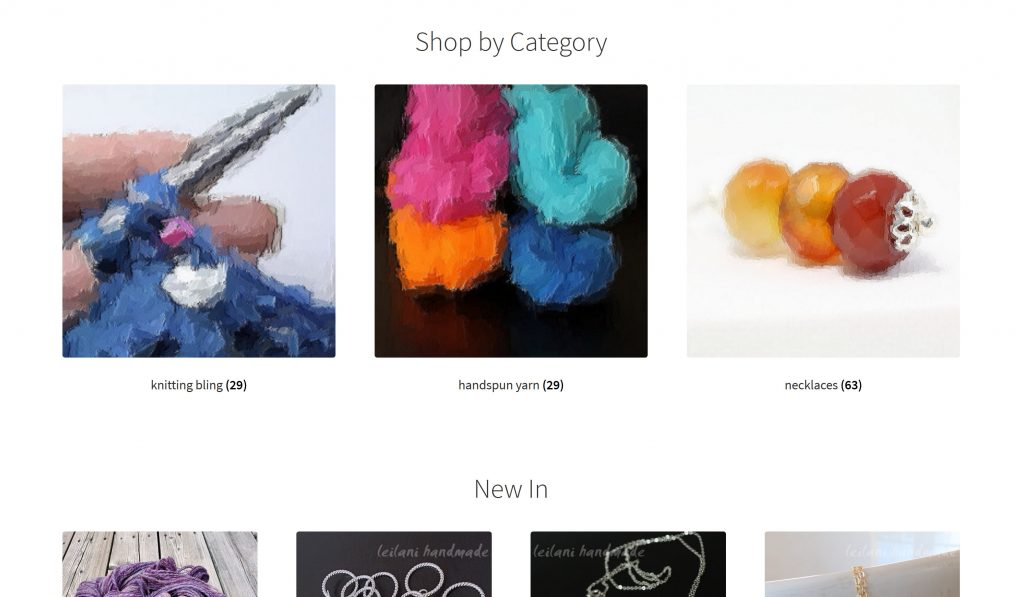 leilani handmade's ecommerce site