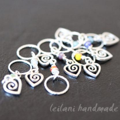 Swirl Heart Knitting Marker Set
