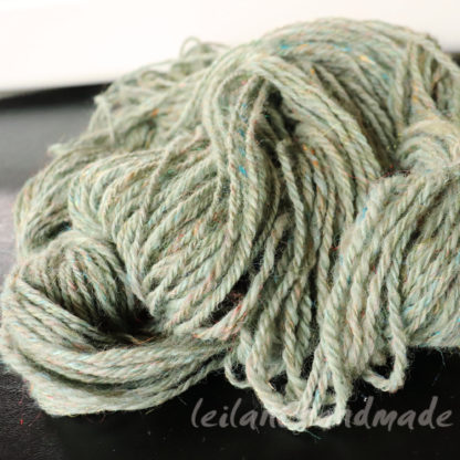 moss green alpaca handspun yarn