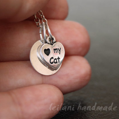 love my cat personalized necklace