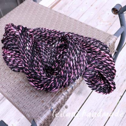 pink zebra handspun yarn