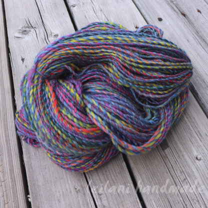 handspun crepe yarn all the happy colors