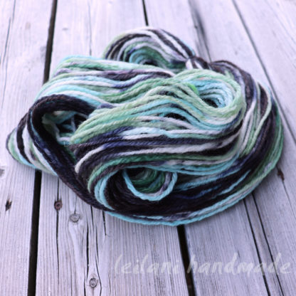 mint chocolate chip handspun yarn