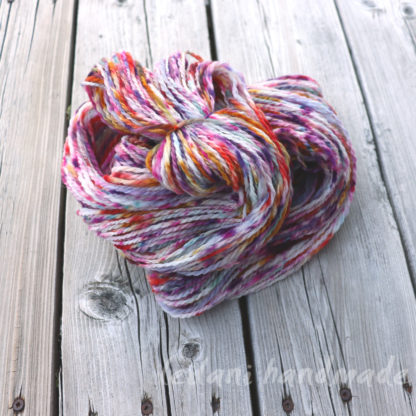 handspun merino yarn speckle dyed