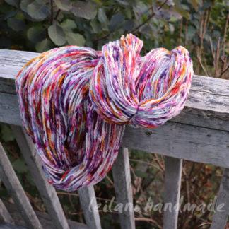 speckle dyed handspun yarn