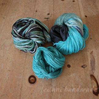 3 skein handspun yarn set BFL