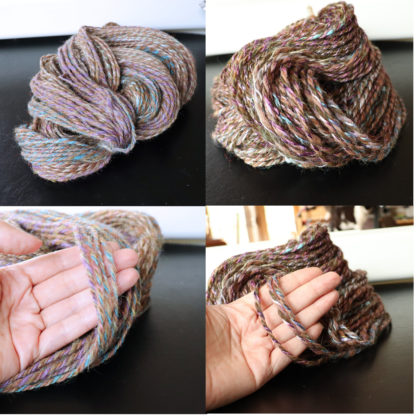 2 skeins handspun yarn