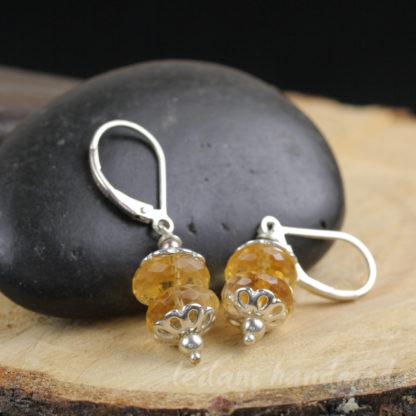 citrine dangle earrings handmade