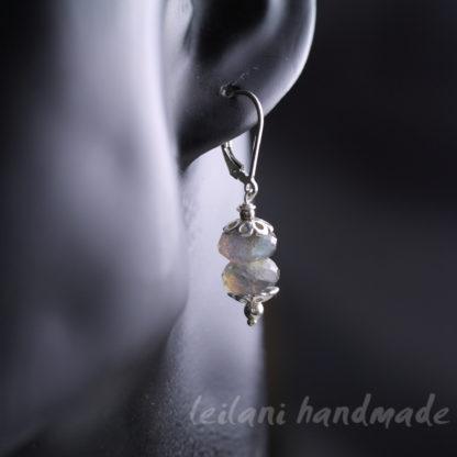 handmade labradrite dangle earrings