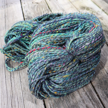 travelling through time and space handspun yarn