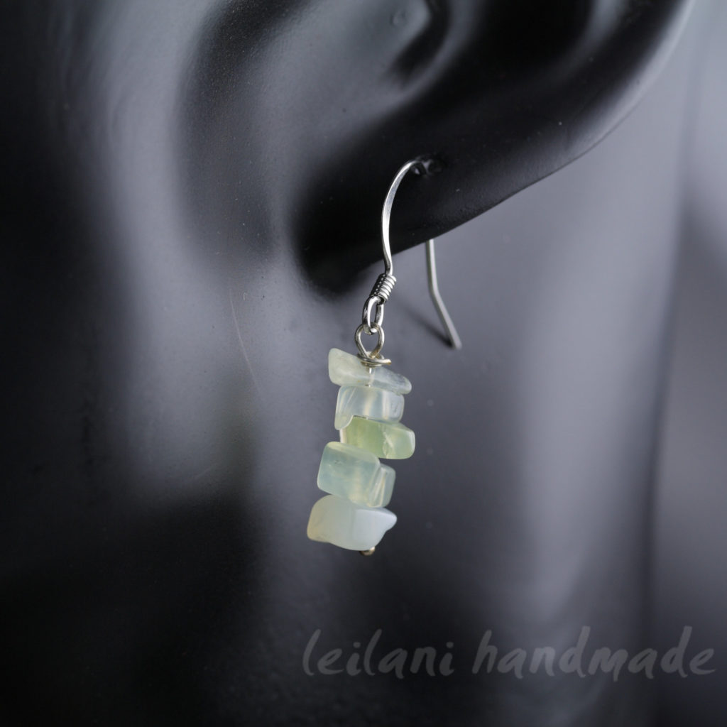 serpentine chip earrings