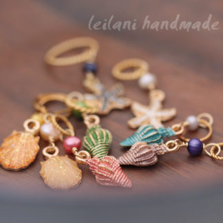 shell stitch marker set set of 8