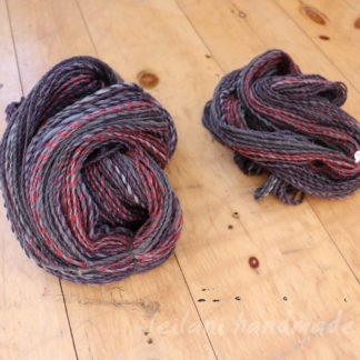 grey and cranberry handspun yarn soft