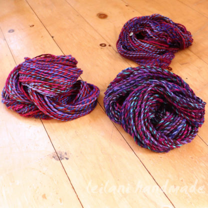 stash buster 3 experimental yarn bundle purples and blues