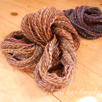 2 skein bundle natural beige will with silk and alpaca with silk 3ply
