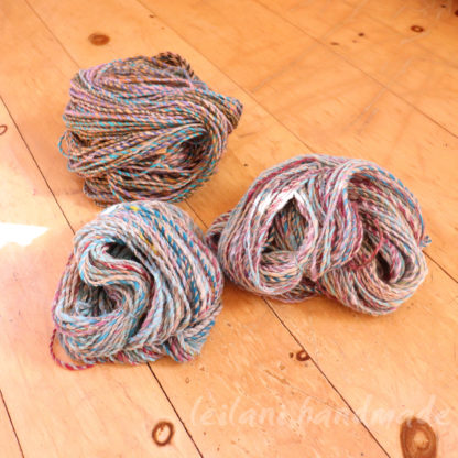 3 skeins handspun yarn set